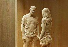 Italian artist Peter Demetz is able to create truly spectacular hyper-realistic sculptures that are hand carved out of wood. Sculpture Stand, Wood Sculpture, Wassily Kandinsky, Statues, Italian Sculptors, Italian Artist, Wooden Art, Human Anatomy, Creative Art
