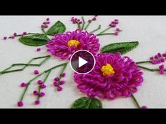 Hand Embroidery: Whipped Back Stitch/Loop Stitch