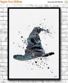 Instant Digital DownloadHarry Potter Sorting Hat Harry Potter Watercolor Print Harry Potter Poster Nursery Room Baby Decor Childrens Art This listing
