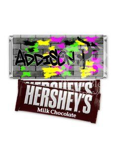 Hip Hop Party Printable Candy Bar Wraps. $5.00, via Etsy.