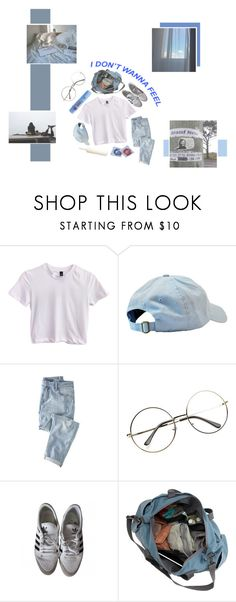 """""""// RUN AWAY WITH ME. -"""" by pwr-bttm ❤ liked on Polyvore featuring Wrap, Colgate, white, tumblr, Blue, minimal and Minimalist"""