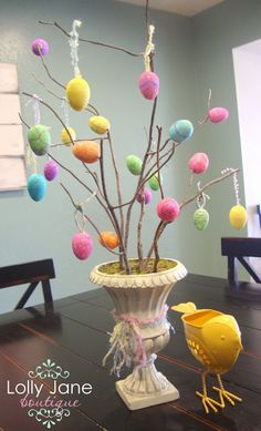 DIY:: Love This !! Frugal Easter Egg Tree - Lolly Jane