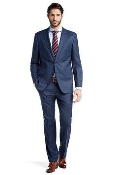 costume coupe regular fit the james4sharp6 en laine vierge par boss - Devred Costume Mariage