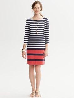 Banana Republic Striped T Shirt Dress