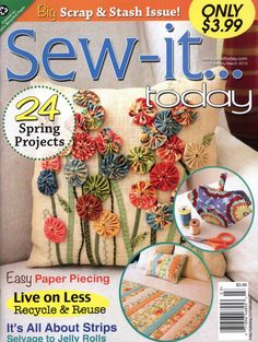 Several awesome sewing project in this magazine - complete with instructions!