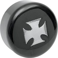 DS Round Horn Cover w/Cross Black Harley FXSTSB Bad Boy 1995-1997