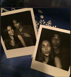 Nina Dobrev & Ian Somerhalder Take Silly Selfies After Filming Final 'Delena' Scene