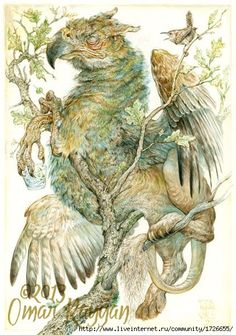 Omar Rayyan's paintings are both spectacular and subtle, the style and technique are old-fashioned and delicate, but the topics are surrealist. Omar Rayyan, Ella Enchanted, Creature Design, Mythical Creatures, Les Oeuvres, Children's Book Illustration, Watercolor Paintings, Fantasy Art, Fairy Tales