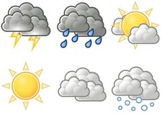 Weather Symbols For Kids Printables. could turn this into a quiet book page Weather Symbols For Kids, Weather For Kids, Preschool Weather, Weather Unit, Weather Icons, Weather Seasons, Weather Activities, Weather And Climate, Toddler Activities