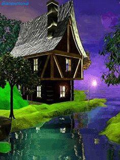 Resultado de imagen para beautiful houses gifs