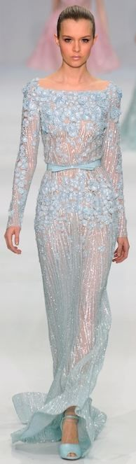 "This light blue Elie Saab design would be the perfect ""Something blue"" for your wedding day! Xx"