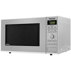 Buy Panasonic Microwave, Stainless Steel from our Microwave Ovens range at John Lewis & Partners. Kitchen Board, Steam Cleaning, Oven Range, Cook At Home, Lemon Water, Microwave, Appliances, Stainless Steel, Gadgets