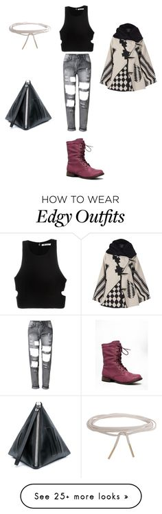 """""""Raw Chic Edgy"""" by richy131 on Polyvore featuring T By Alexander Wang, Breckelle's, Humble Chic, McQ by Alexander McQueen and Lindsey Thornburg"""