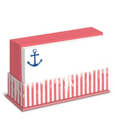 Weathered Anchor Stripe Notecard - Set of 50 Nautical stationary!