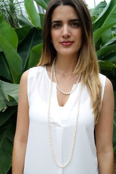 exvoto vintage pearl necklace
