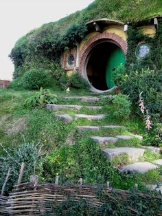 I dont know why, but I have always wanted to live in a hobbit hole even as a kid. Maybe because its so green