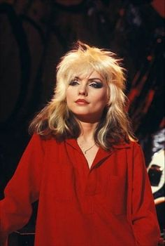 Debbie Harry Hair, Debbie Harry Style, Blondie Debbie Harry, Blondie Band, Pop Star Party, 70s Makeup, Rock Girls, Rocker Outfit, Riot Grrrl