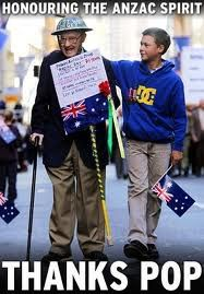 THAT'S the spirit! : Pat Lee was joined by proud grandson Daniel Roberts as thousands of cheering spectators greeted war veterans for Sydney Patriotic Posters, Anzac Day, Fallen Heroes, Lest We Forget, World War One, Photo L, Armed Forces, Troops, Brave