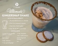 Ultimate Gingersnap Shake // Wake up festive! Add healthy protein to your day in a snap with this holly, jolly treat! Healthy Protein, Protein Foods, Healthy Snacks, Healthy Eats, Profit Recipes, Protein Powder Reviews, Shake It Up, Healthy Cholesterol Levels, Ways To Eat Healthy