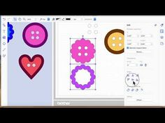 brother scan n cut tutorials making buttons - YouTube
