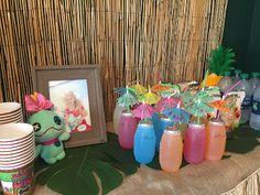 Lilo and Stitch Luau Birthday Party. kids drinks
