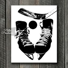 Hockey Print INSTANT DOWNLOAD Hockey Art by NiftyPrintables