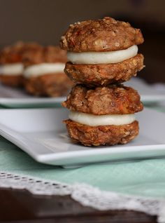 Carrot Cake Cookie Sandwiches - Your Cup of Cake