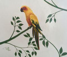 "Detalle mural ""Aves"" Acrílico sobre pared Art: Pavel Llompart"