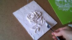 Wood Icing: Lingerie Closet - how to do high-relief lace texture - Salvabrani Plaster Crafts, Plaster Art, Plaster Walls, Clay Wall Art, Clay Art, Sculpture Painting, Wall Sculptures, Texture Art, Texture Painting