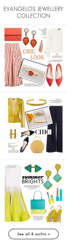 """""""EVANGELOS JEWELLERY COLLECTION"""" by helenevlacho ❤ liked on Polyvore featuring Christopher Esber, MANGO, Exclusive for Intermix, KoKo Couture, Yves Saint Laurent, Theory, Missoni, Cole Haan, BUwood and Delpozo"""