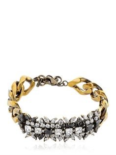 IOSSELLIANI - OPTICAL MEMENTO CRYSTAL BRACELET - GOLD