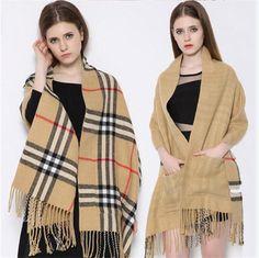 Scarves to buy · Vente En Gros Hot Ventes De Mode Châle Echarpes Pocket  Pour Les Femmes De Laine Artificielle 2f8d952650f