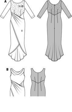 Платье приталенного силуэта с драпировками