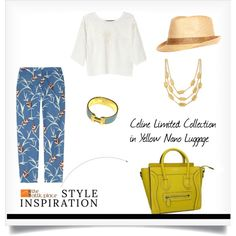 """""""::STYLE INSPIRATION – Celine Limited Collection in Yellow Nano Luggage::"""" by the-attic-place on Polyvore"""