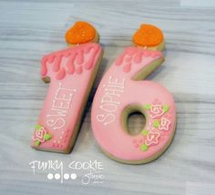 Jill FCS:  sweet 16 birthday candle decorated cookies. ♡♡♡♡♡