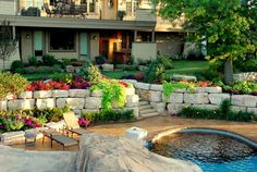 Heins Nursery has been in residential and commercial landscaping design & installation for over 40 years. Minnesota Landscaping, Commercial Landscaping, Stone Retaining Wall, Rectangle Shape, Bouldering, Outdoor Ideas, Outdoor Decor, Landscape Design, Nursery