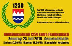1250 Jahre Frankenbach Jubiläumsabend
