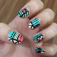 Tribal nails! Recreation from Demelza's World