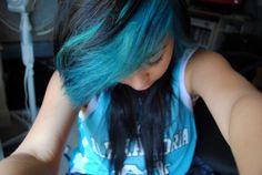 Black and Blue bangs I want