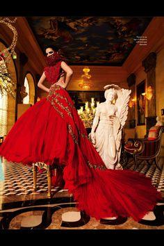 Avant garde wedding dress