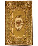 RugStudio presents Safavieh Classic CL280A Light Gold / Green Hand-Tufted, Best Quality Area Rug