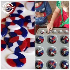 FOURTH OF JULY MELTED PONY BEAD DECOR - Kids Activities