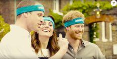Kate Middleton, le prince William et le prince Harry ont participé le 21 avril dans les jardins de leur résidence du palais de Kensington à un spot de sensibilisation à la santé mentale pour le compte de l'association Heads Together révélé le 24 avril 2016. Pull : J.Crew