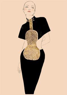 Chloé fête ses 60 ans au Printemps- la robe Violon de Karl Lagerfeld pour Chloé printemps-été 1983
