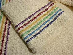 """I got into a real """"zen"""" weaving zone with these towels - they were a delight to weave. I never grew tired of seeing the pattern emerge in th. Huck Towels, Tea Towels, Dish Towels, Loom Weaving, Hand Weaving, Fabric Weaving, Swedish Embroidery, Lace Weave, Swedish Weaving"""