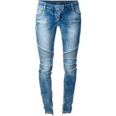 Balmain skinny jeans Splash by the Beach ($1,755) ❤ liked on Polyvore featuring jeans, pants, bottoms, denim skinny jeans, skinny leg jeans, cut skinny jeans, blue jeans and skinny jeans