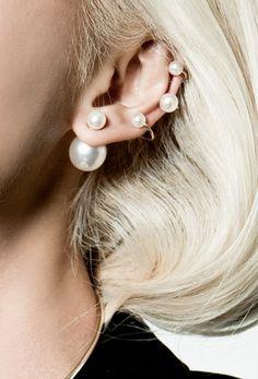 Pearl earrings #white #pearls