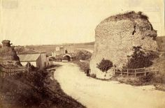 Via Nomentana (1880) al centro il Ponte Nomentano