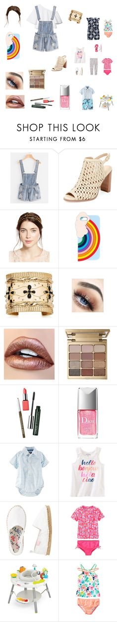 """""""Full garden day in the paddling pool with the kids"""" by bellzellz ❤ liked on Polyvore featuring Renvy, Jennifer Behr, Miss Selfridge, Aurélie Bidermann, Stila, Clinique, Christian Dior, Carter's and Saucony"""