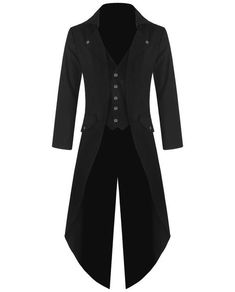 online shopping for DarcChic Mens Gothic Tailcoat Jacket Black Steampunk VTG Victorian Coat from top store. See new offer for DarcChic Mens Gothic Tailcoat Jacket Black Steampunk VTG Victorian Coat Victorian Coat, Gothic Coat, Gothic Men, Victorian Steampunk, Dark Gothic, Trenchcoat Men, Steampunk Fashion, Gothic Fashion, Style Fashion